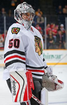 Corey Crawford  50 Chicago Blackhawks Hockey Helmet e84ebc5b0