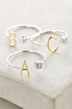 This Monogram Orbit Ring from Anthropologie would make an excellent jewelry bridesmaid gift!