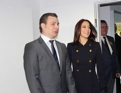 Crown Princess Mary attende opening of  the KFUM Soldier' housing for veteran families in Birkerød on October 23, 2015.