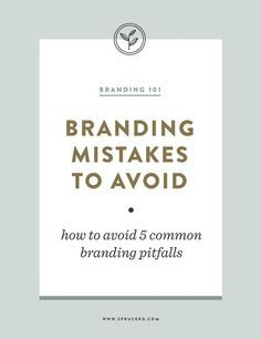 When it comes to your business, here are a few pitfalls you can easily avoid, in order to make your brand identity as quality as your business is!