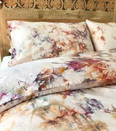 NEW Phoenix Hand Dyed Bedding Tie Dye Bedding Duvet Cover and Two Pillow Cases Twin Queen and King Anna Joyce Portland OR