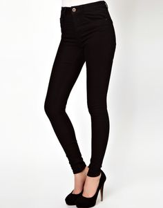Asos Black High Waist Jeans
