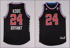 96e633af45ebf Los Angeles Lakers  24 Kobe Bryant 2014-15 West All-Star Black Cheap