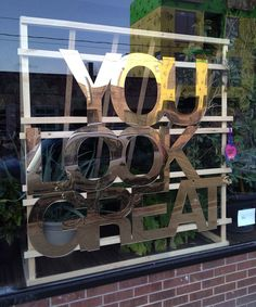 Jade's mirror, seen here supported with a wooden structure, will be displayed in the window of the Helia Beauty Salon at 848 Dundas Street West in Toronto. For a listing of all the events see Toronto Design Offsite.