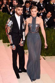 best-dressed-met-gala-2016-ball-zayn-malik-gigi-haddi Zayn Malik, in a Versace suit, & Gigi Hadid, wearing Tommy Hilfiger