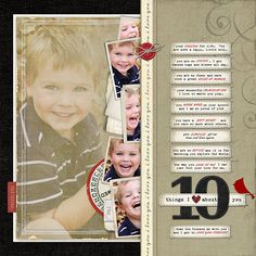 OMG that kid is adorable..oh and love the layout too!