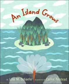 An Island Grows by Lola M. Schaefer and illustrated by Cathie Felstead