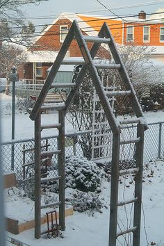 Arbor made from a ladder.