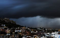 GREECE | A beautiful Thunder & lightning storm over Athens, … | Flickr
