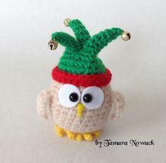 Owls in hats amigurumi PDF ebook crochet pattern by Nowacrochet