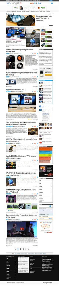 TopGadget Responsive WordPress Tech News Theme