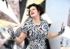 Feeling the moment. Arcade Fire's Régine Chassagne grooves onstage during a performance at the 2014 Big Day Out festival on Jan. 17 in Auckland, New Zealand