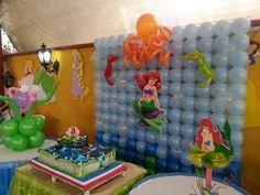 Balloon Panel Mermaid Ariel Theme