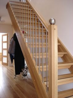 Our Modern Staircase Gallery shows all our completed stair projects in light and open designs. Manufactured in solid timber with stainless steel and glass Staircase Metal, Stainless Steel Staircase, House Staircase, Open Staircase, Wooden Staircases, Stairways, Open Basement Stairs, Under Stairs, Bungalow Extensions