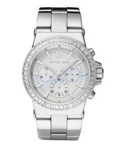 Michael Kors Watches - Ladies Dylan Glitz Chronograph White Face