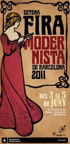 Diseño de cartel de la fira modernista Barcelona, 2011