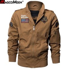 058cd9763ef Magcomsen Autumn Jackets Men Military Pilot Bomber Jacket Coats Man Army  Tactical Combat Jackets Windbreakers Plus Size Ssfc-17