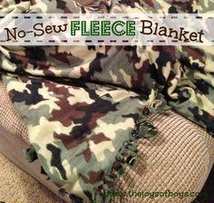 No-Sew Fleece Blanket | The Joys of Boys