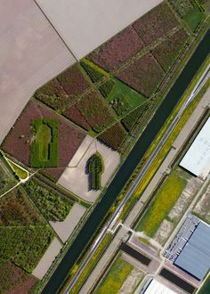 "11/7/2015 The Green Cathedral Almere, Netherlands 52.323157°N 5.318778°E Look closely at this Overview and you'll see ""The Green Cathedral"" - an artistic planting of 178 Lombardy poplar trees near Almere, Netherlands. The ""Cathedral"" is 50 m (490 ft) long and 75 m (246 ft) wide, which mimics the exact size and shape of the Cathedral of Notre-Dame in Reims, France. The artist, Marinus Boezem, also made a clearing in a nearby beech forest of the same shape to suggest that as the poplars…"