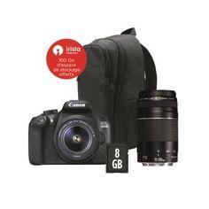 Canon amp; Reflex Prix Carte 8go 75 300 Sd À Dos Sac Eos 55 Achat Iii Appareil 18 1300d Objectif Photo qAApUw