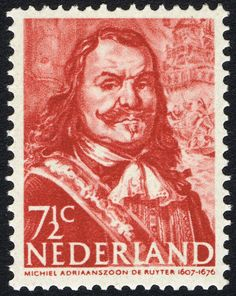 Stamp: Michiel Adriaanszoon de Ruyter (1607-1676), admiral (Netherlands) (Heroes at sea) Sn:NL 252a,NVP:NL 412a