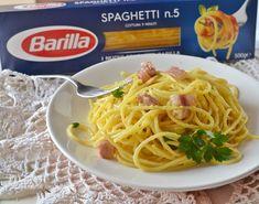 Spaghetti con crema allo zafferano,un primo piatto velocissimo,da preparare all'ultimo minuto,cremoso e saporito