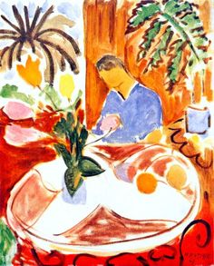 Henri Matisse (French, Fauvism, 1869-1954). 1947, Small Interior with Round Marble Table