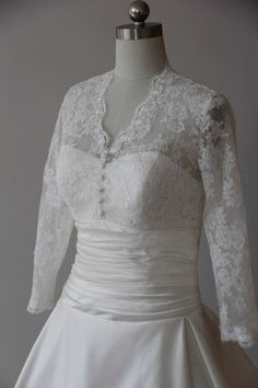 #weddings - Plus Size Wedding Dresses with Sheer Long Lace Sleeves. This empire waist wedding gown can be made to order in any size or with ANy changes a bride may need or want.  Custom designs are also an option.  Please contact us for more details and pricing at https://www.dariuscordell.com/featured/plus-size-wedding-dresses-bridal-gowns/