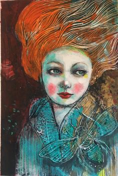 """""""Little Bee"""" - mixed media; Maria Pace-Wynters"""
