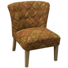 Furniture - Tapestry Occasional Chair - Hutsly. Covered in an antique tapestry-style fabric, this cute occasional chair is very boho and we would love to see a very bright rectangular cushion on it for the contrast! Around the coffee table or in a corner of your bedroom, there is no denying the impact it will have on your decor!