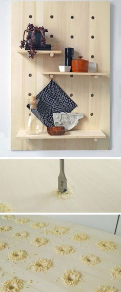 Make a Pegboard Shelving System Click Pic for 25 DIY Small Apartment Decorating Ideas on a Budget Organization Ideas for Small Spaces Diy Apartment Decor, Small Apartment Decorating, Apartment Furniture, Rustic Apartment, Studio Apartment, Bedroom Apartment, Apartment Ideas, Diy Home Decor On A Budget, Decorating On A Budget
