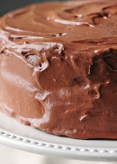 Malted Buttercream Chocolate Frosting - A great chocolate frosting recipe is always a good thing to know how to make, and this one is no exception.