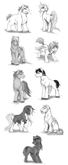 CM - male ponies by mr-tiaa on DeviantArt