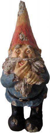 "Terrapin Trading, C5/TDE-48270, Large Giggling Gnome by Terrapin Trading. $44.95. A whimsical addition to your garden or a wonderful gift!. Made of durable polyresin with added UV paint inhibitors. Made with care and of the highest quality. Greet visitors to your garden with our charming and traditional ""wood-cut"" gnomes!. Suitable for both indoor and outdoor use. Made of durable polyresin, 19"" tall with a red cap and blue coat, this happy, mischievous fellow is part of our delig..."