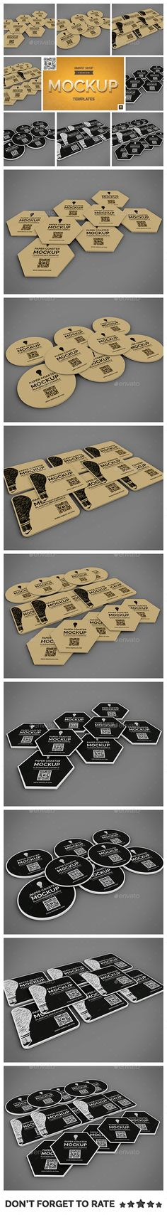 Paper Coaster Mockup Set