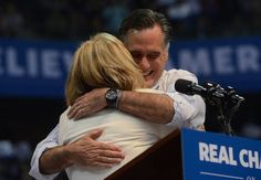 Election Affection! Candidates Make Final Push With Their Leading Ladies: Mitt and Ann shared a good laugh on stage.  : Mitt and Ann thanked their fans for support.  : Excitement was felt during the last night on the campaign trail.