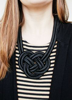 Rowan Rope Necklace - Toss this textural necklace over anything from a plain tee to a LBD!