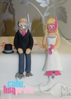 Pin Personalised Scuba Diver Cake Topper By Minahmoos On Etsy but with hair on spencer!