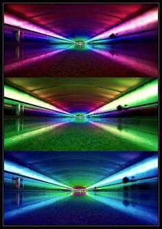 Rainbow tunnel @CAROL WILLIAMS Metro Airport