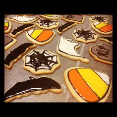 Decorated Halloween Sugar Cookies! These things are labor intensive but so worth it!