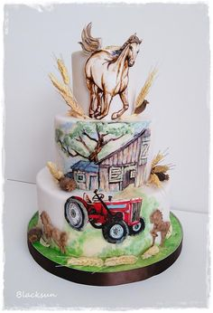 Hand painted cake - http://cakesdecor.com/cakes/288643-hand-painted-cake