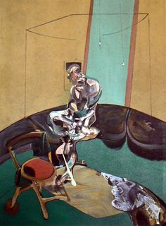 """Francis Bacon """"George Dyer Staring at Blind Cord"""", limited edition lithograph, produced in 1966 and pressed on quality velin de rives paper. This """"Deluxe Edition"""" Derrière Le Miroir, first edition, lithograph is limited to 150 pieces world wide. Francis Bacon, Lovers Art, Art Images, Contemporary Art, Fine Art Prints, Illustration, My Arts, Paintings, Dibujo"""