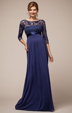 Lucia Maternity Gown Windsor Blue by Tiffany Rose