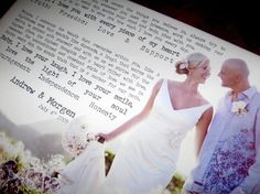 WEDDING Personalized Your Photo on Canvas with Words CUSTOM by GeezeesCustomCanvas,