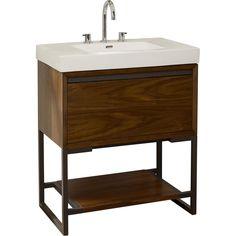 Buy the Fairmont Designs 1505-VH3018 Single Bowl Bathroom Vanity Natural  Walnut 29 x 17