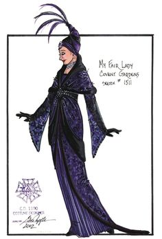 My Fair Lady (Covent Garden). Paper Mill Playhouse. Costume design by Gregory A. Poplyk.