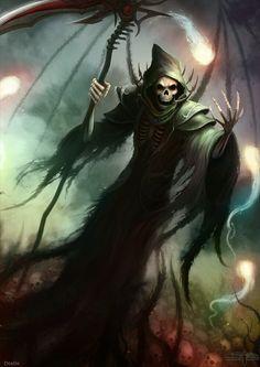 DeviantArt: More Collections Like Grim Reaper by YannickBouchard Grim Reaper Art, Grim Reaper Tattoo, Don't Fear The Reaper, Arte Horror, Horror Art, Dark Fantasy Art, Dark Art, Airbrush, Imagenes Dark