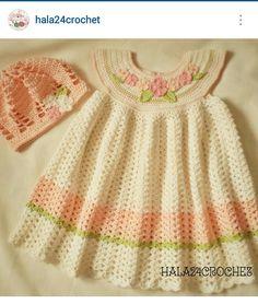 Instagram @hala24crochet - crochet girl's dress