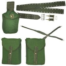 Genuine Swedish Army Surplus, 304 Webbing Set, 1 Canteen Pouch (canteen not included), 2 Ammo Pouches approximately Belt Harness Made from Cordura Bushcraft Pack, Army Gears, Swedish Army, Army Surplus, Tactical Vest, Military Army, Pouch, Backpacks, Belt