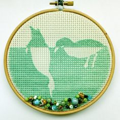 Foraging Ducks 5 Embroidery by CraftDrawerUK on Etsy, £15.00